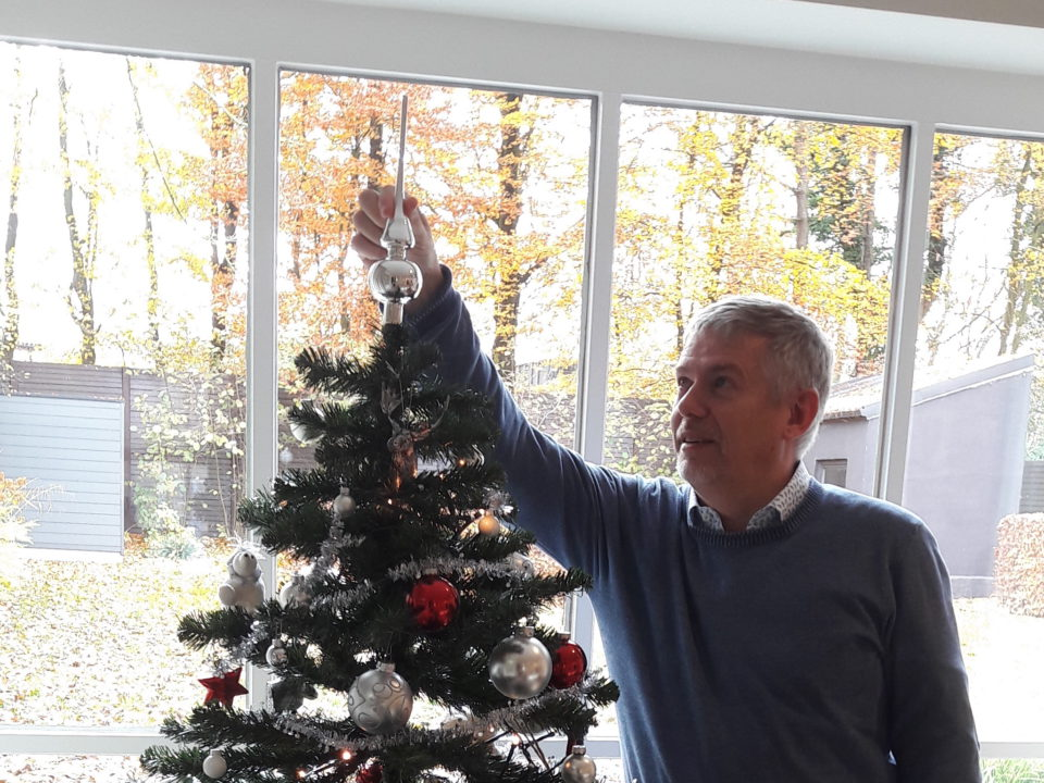Putting the Christmas tree in the Office