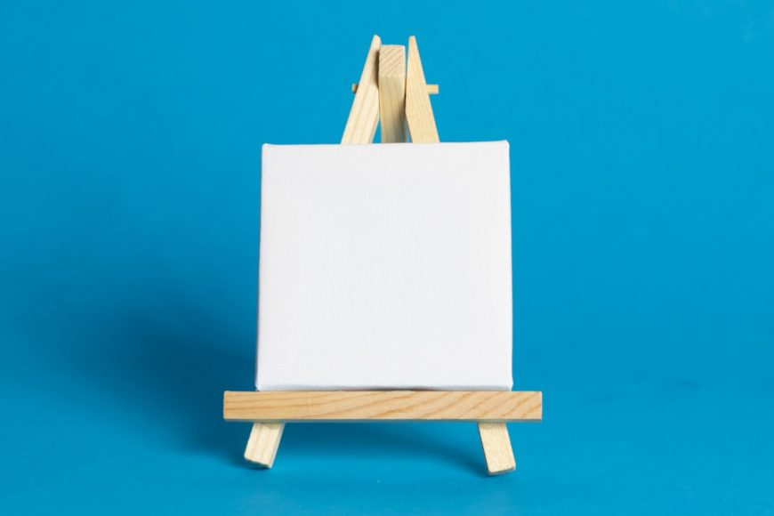Easel For Artists And Blank Canvas